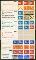 ZUSAMMENDRUCKE MH 11,13-15 **, 1973, 4 Verschiedene Markenheftchen, Mi. 131.- - Booklets