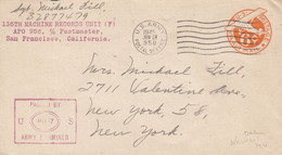 COVER. US ARMY POSTAL SERVICE. ARMY EXAMINER. 28 6 45 . APO. 958. FT SHAFTER - Cartas