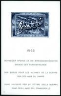 SCHWEIZ BUNDESPOST Bl. 11 **, 1945, Block Kriegsgeschädigte, Weißer Gummi, Pracht - Unused Stamps