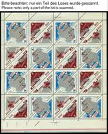 SOWJETUNION 3181-83 **, 1966, Antarktisforschung, Kleinbogen Mit 4 Viererblock-Kehrdruckpaaren, 17x, Marken Pracht, Ränd - Gebraucht