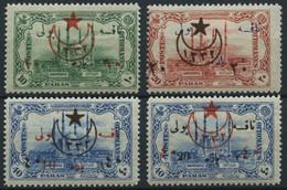 TÜRKEI 472-75 *, 1914, Portomarken Mit Aufdrucktype II, Falzrest, 4 Prachtwerte, Mi. 300.- - Ungebraucht