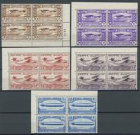 ÄGYPTEN 186-90 VB **, 1933, Luftfahrtkongress In Postfrischen Eckrandviererblocks, Prachtsatz - Ungebraucht