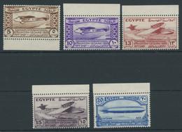 ÄGYPTEN 186-90 **, 1933, Luftfahrtkongress, Postfrischer Prachtsatz - Ungebraucht