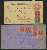 ARGENTINIEN 1897/1937, 3 Schiffspostbelege (dabei Ein Ganzsachenumschlag Mit Zusatzfrankatur) Verschiedene Dampfer, Alle - Collections, Lots & Séries
