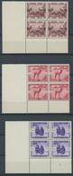 BELGISCH-KONGO 185-89 VB **, 1939, Zoologischer Garten In Eckrandviererblocks Aus Der Linken Unteren Bogenecke, Postfris - Sin Clasificación