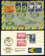 BRASILIEN 1956-80, 4 Verschiedene Luftpostbelege, Nur Erst-u. Sonderflüge, Pracht - Aéreo