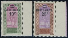 BURKINA FASO 41/2 **, 1926/7, 10 Fr. Auf 5 Fr. Und 25 Fr. Auf 5 Fr. Obersenegal-Niger, Postfrisch, 2 Prachtwerte - Neufs