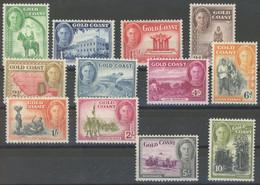 GOLDKÜSTE 120-31 **, 1948, Landschaften, Postfrischer Prachtsatz, Mi. 80.- - Goldküste (...-1957)