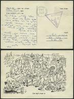 ISRAEL 1967, Dreieckiger Feldpoststempel 2269 Und Poststempel Von Ashoelon Auf Feldpost-Vordruckkarte Von Der ägyptische - Cartas