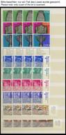 ISRAEL - SAMMLUNGEN, LOTS **, 1968-73, Postfrische Dublettenpartie Israel Im Einsteckbuch, U.a. 4x Mi.Nr. 524-37 Und 3x  - Collections, Lots & Séries