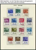 ISRAEL - SAMMLUNGEN, LOTS O, 1970-79, Komplette Teilsammlung Auf Falzlosseiten, Pracht, Mi. 226.- - Collections, Lots & Séries