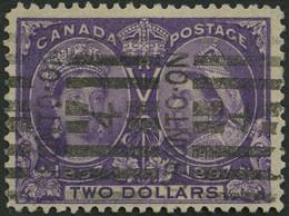 KANADA 50 O, 1897, 2 $ Violett, Pracht, Signiert Gebrüder Senf, Mi. 500.- - Oblitérés