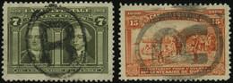 KANADA 88,90 O, 1908, 7 Und 15 C. Quebec, 2 Werte Mit R-Stempel, Feinst/Pracht, Mi.165.- - Oblitérés