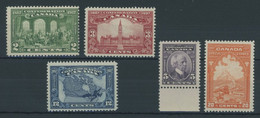 KANADA 119-23 **, 1927 2 - 20 C. Dominion Of Canada, 5 Postfrische Prachtwerte - Otros