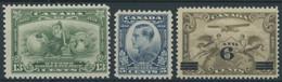 KANADA 160/1,169 **, 1932, 5 Und 13 C. Wirtschaftskonferenz Und Flugpost, 3 Postfrische Prachtwerte - Otros