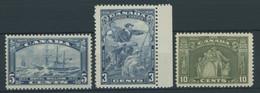 KANADA 174-76 **, 1933/4, 3 Postfrische Werte, Pracht - Otros