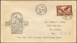 KANADA 196 BRIEF, 18.11.1936, Erstflug BUFFALO NARROWS-LA LOCHE (Teiletappe), Prachtbrief, Müller 286a - Aéreo