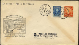 KANADA 118,147 BRIEF, 19.11.1936, Erstflug LA LOCHE-ILE A LA GROSSE (Teiletappe), Brief Feinst, Müller 286a - Primeros Vuelos