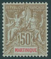 MARTINIQUE 44 *, 1899, 50 C. Braun/rot Auf Bläulich, Falzrest, Pracht - Non Classés