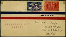 PANAMA 142-3 BRIEF, 9.1.1928, 2 Und 5 C. Auf Sonderflug Lindsbergh Day Nach New York, Feinst, Müller Nr. 6 - Panamá