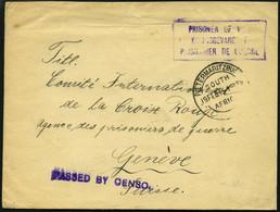 SÜDAFRIKA AB 1910 1915, Kriegsfangenenbrief Aus PIETERSMARITZBURG Mit Violettem Dreisprachigen R3 Prisoner Of War Und Vi - Briefe U. Dokumente