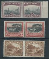 SÜDAFRIKA AB 1910 29-34A *,** , 1927, 2 - 4 P. Landesmotive, 3 Waagerechte Paare, Je Ein Wert Postfrisch, Pracht - Sin Clasificación