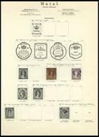 SÜDAFRIKA AB 1910 O,* , 1859-ca. 1900, Alter Sammlungsteil Südafrikanische Staaten, Insgesamt 55 Werte, Erhaltung Etwas  - Ohne Zuordnung