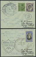 TONGA 39,56,72 BRIEF, 1938, TIN CAN MAIL, 2 Verschiedene Belege Mit Diversen Stempeln, Pracht - Tonga (...-1970)
