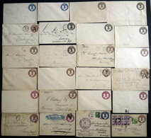 GANZSACHEN U 348-351 BRIEF, 1893, 1 - 10 C. Columbus And Liberty, Sammlung Von 54 Umschlägen, Gebraucht Und Ungebraucht, - Sin Clasificación