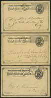 GANZSACHEN 1893-1903, 6 Verschiedene Komplette Frage- Und Antwort Ganzsachenkarten (Paid Reply Postal Cards), Gebraucht, - Sin Clasificación