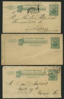 GANZSACHEN 1898-1901, 2 C. Grant, 4 Kartenbriefe (Letter SHEET), Davon 3 Gebraucht, Feinst/Pracht - Sin Clasificación