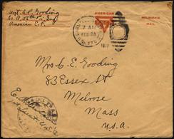 FELDPOST 1919, Feldpost-Ovalraute U.S. ARMY POSTAL SERVICE/No. 770 Und US-Zensurstempel Mit Vermerk Des Militärischen Vo - Briefe U. Dokumente