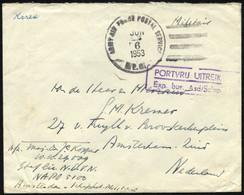 NIEDERLANDE 1953, US-Feldpoststempel ARMY AIR FORCE POSTAL SERVICE/A.P.O. Auf Feldpostbrief Aus Korea In Die Niederlande - Covers & Documents