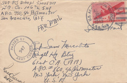 COVER. US ARMY POSTAL SERVICE. PASSED BY CENSOR.  APO 960. HILO T H - Cartas