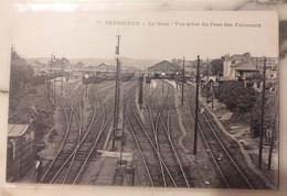 """24 Dordogne - PERIGUEUX - """" La Gare - Vue Prise Du Pont Des Fainéants """" - Périgueux"""