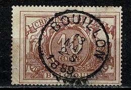 Belg. 1882/94  TR 7a Obl./gest. Bouillon 13 Mai 1889 - Used