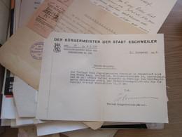 Der Burgermeister Der Stadt Eschweiler 1939 - 1900 – 1949