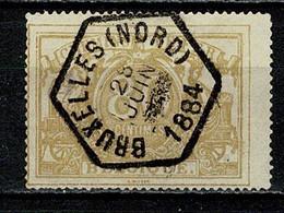 Belg. 1882/94  TR 12 Obl./gest. Bruxelles (Nord) 25 Juin 1884 Heure Barrrée / Uur Doorgestreept - Used