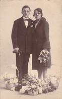 Photograph Of A Married Couple, Portrait Par G Jude, Jemappes (pk77855) - Marriages