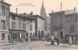 SAINT GENIS LAVAL Place De La Ville Et Rue De L Eglise 9(scan Recto-verso) MA850 - Altri