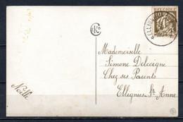 337 Op Fantasiekaart Gestempeld (sterstempel) ELLIGNIES STE ANNE - 1932 Cérès Et Mercure