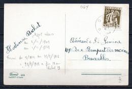 337 Op Fantasiekaart Gestempeld (sterstempel) OGY - 1932 Cérès Et Mercure