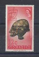 "GRENADA..QUEEN ELIZABETH II...(.1952-NOW..)."".1974.."".INDEPENDENCE......7th.FEB.....TORTOISE......12c.....SG600.......MH - Grenada (...-1974)"