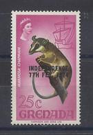 "GRENADA..QUEEN ELIZABETH II...(.1952-NOW..)."".1974.."".INDEPENDENCE....7th.FEB...MARMOSA CHAPMANI.....25c...SG601......MH - Grenada (...-1974)"