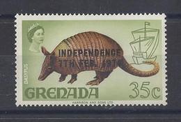 "GRENADA..QUEEN ELIZABETH II...(.1952-NOW..)."".1974.."".INDEPENDENCE....7th.FEB....DASYPUS.......35c......SG602......MH - Grenada (...-1974)"
