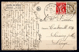 339 + 420 Op Fantasiekaart Gestempeld (sterstempel) ORTHO - 1932 Cérès Et Mercure