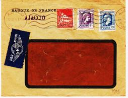 France, D'Ajaccio Le 22 Juin 1944 Tarif Avion 2f  Mixte Republ Franc Et Algérie  RR Et  TB - Guerra Del 1939-45