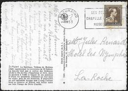 1951 - BELGIË/BELGIQUE/BELGIEN - Card + Y&T 845 [Léopold III] + BEAURAING - 1936-1957 Col Ouvert