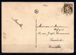 337 Op Postkaart (Frahan) Gestempeld (sterstempel) ROCHEHAUT - 1932 Cérès Et Mercure