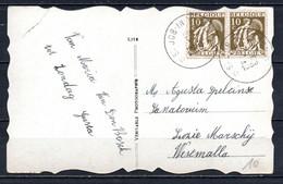 337 In Paar Op Fantasiekaart Gestempeld (sterstempel) ST JOB IN T GOOR - 1932 Cérès Et Mercure